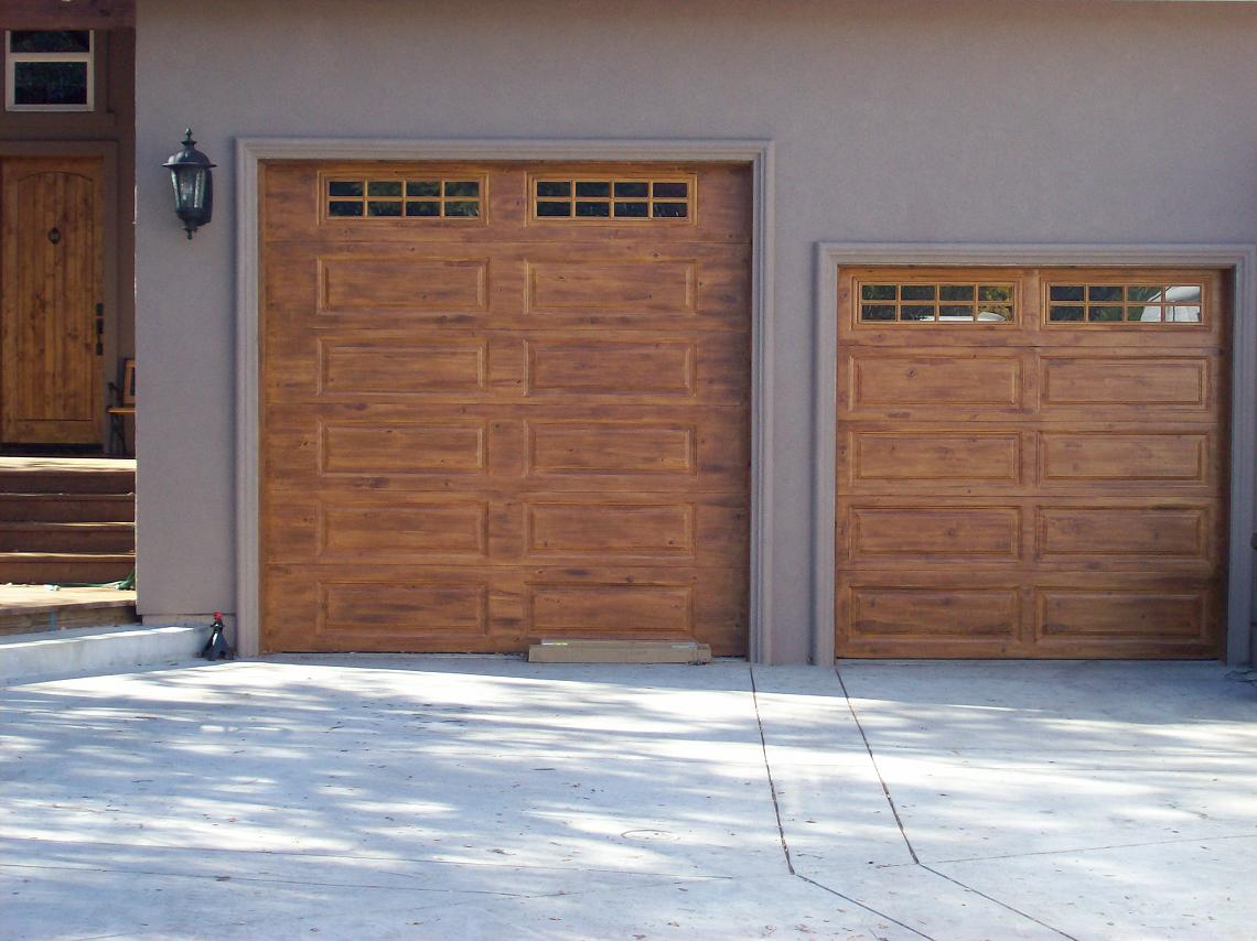 Front doors creative ideas for How to paint faux wood garage doors